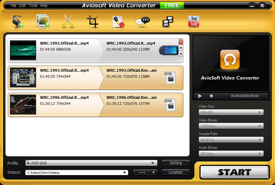 Aviosoft Video Converter comes with a good looking and easy
