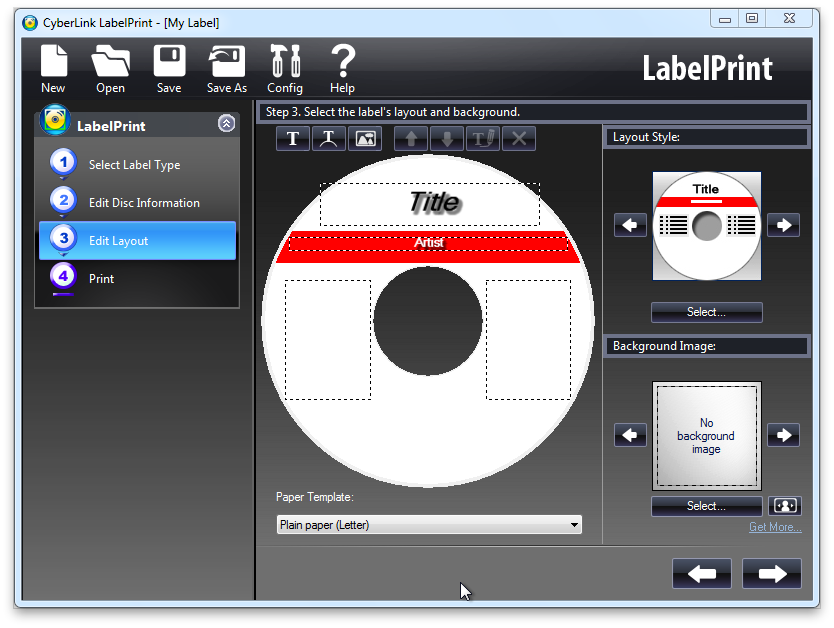 Design your cd dvd labels with cyberlink labelprint for Dvd sticker printing