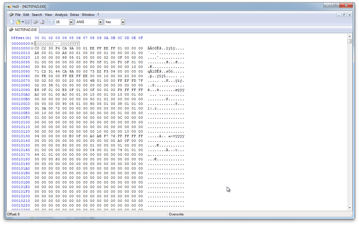 Edit binary files and raw disk sectors with HXD Hex Editor - Soft32 Blog