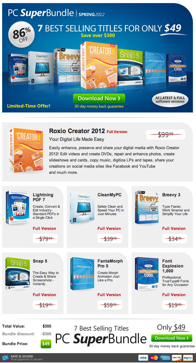 Special Offer: The NEW PC SuperBundle Spring 2012 is here! Limited-Time Only - Save Over $300+