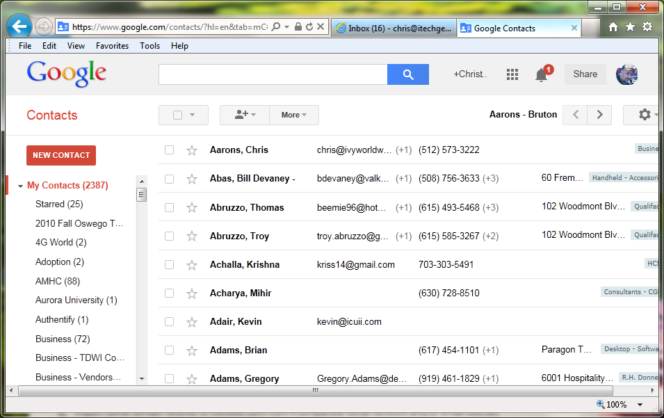 GMail - Contacts 02