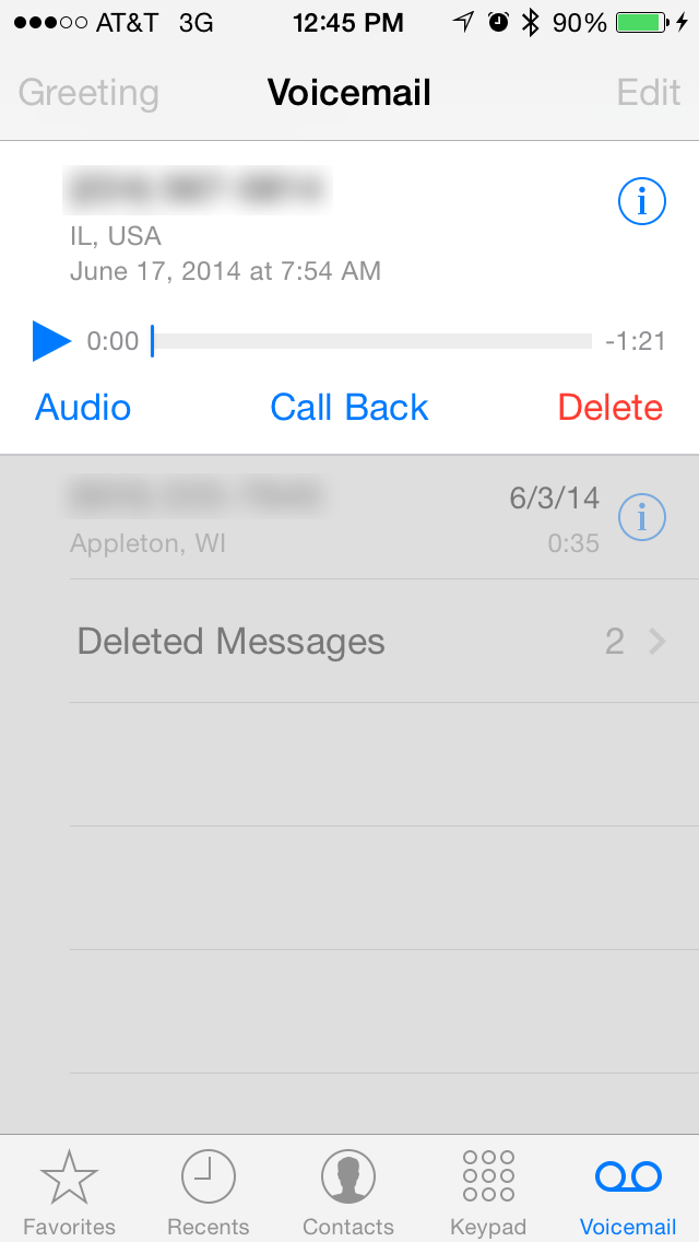 how to play facebook voice message on phone