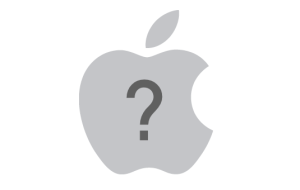 Apple-question-mark